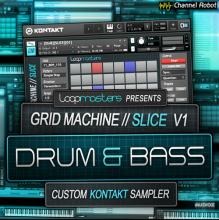 Loopmasters Channel Robot Grid Machine Slice V1 Drum and Bass KONTAKT [1 CD]