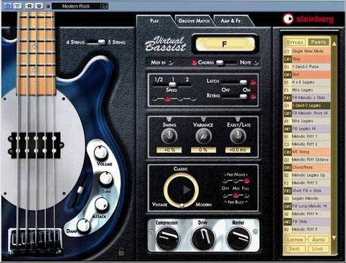 Виртуальный vst бас гитара